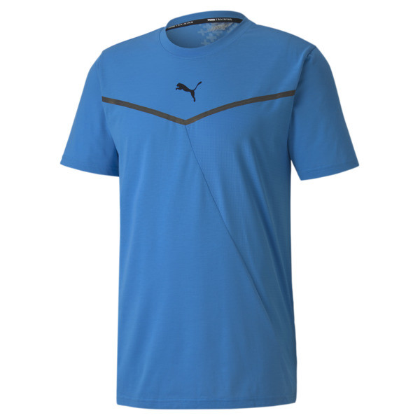 Looking for the best in performance technology? You\\'re in the right place. This versatile training tee features a dynamic combination of thermoregulation and moisture-wicking fabric to keep you cool and dry throughout your workout. Engineered with bonded seams for reduced friction and ergonomic cutlines for flexible movement, this top is more than above average. | PUMA Train Thermo R+ BND Men\\'s T-Shirt in Nrgy Blue, Size XL