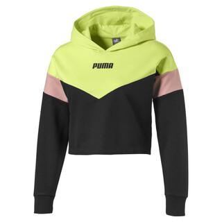 Görüntü Puma Colour Blocked Kısa Kesim Kız Çocuk Sweatshirt