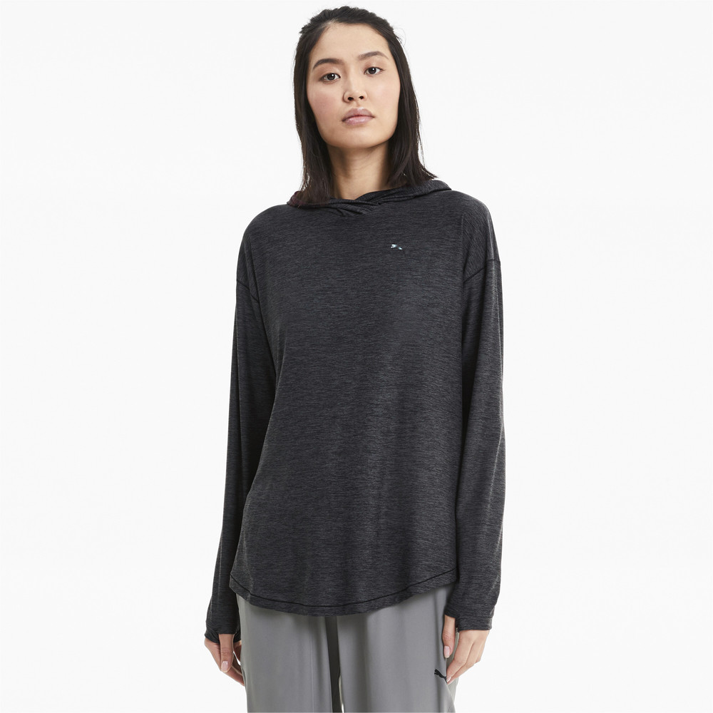 Image PUMA Studio Knitted Women's Training Hoodie #1