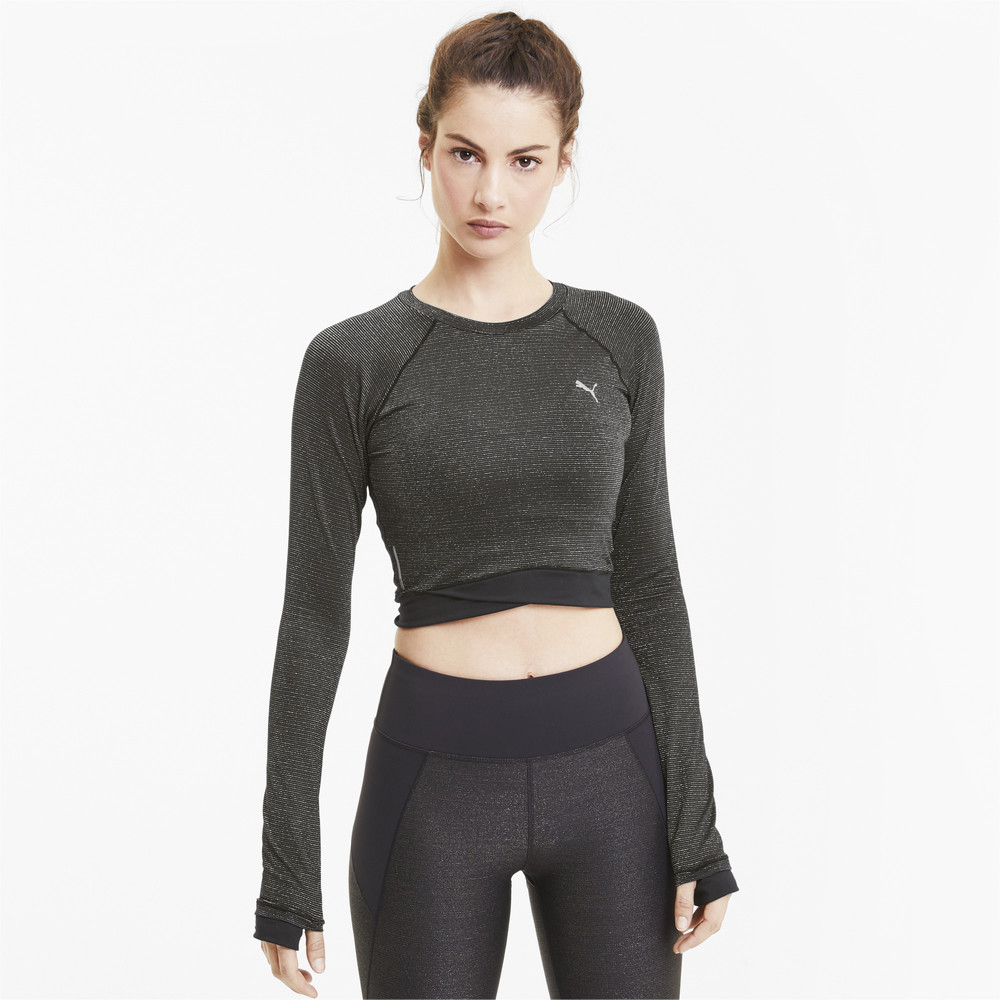 Image PUMA Studio Metallic Long Sleeve Women's Training Top #1