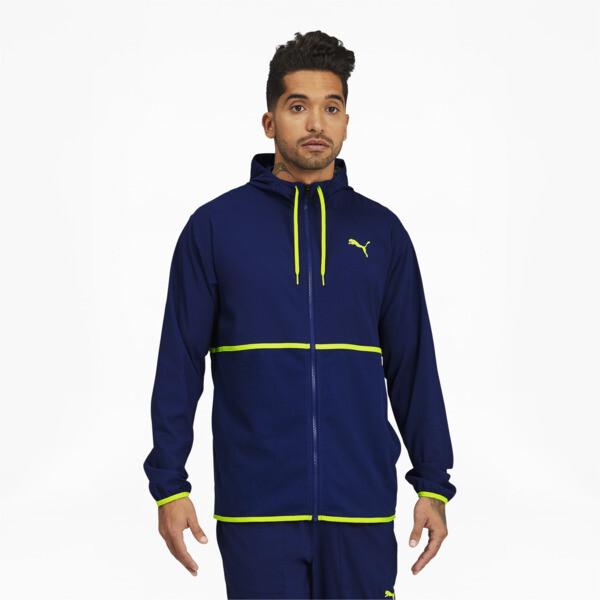 Puma Vent Men's Hooded Training Jacket In Elektro Blue, Size S