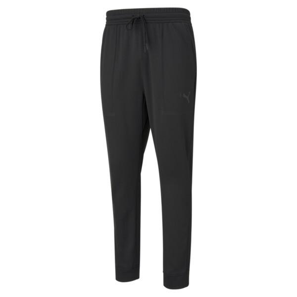 puma tech knit men's training jogger pants in black, size s