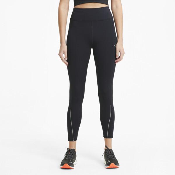 puma cooladapt women's long running leggings in black, size xs