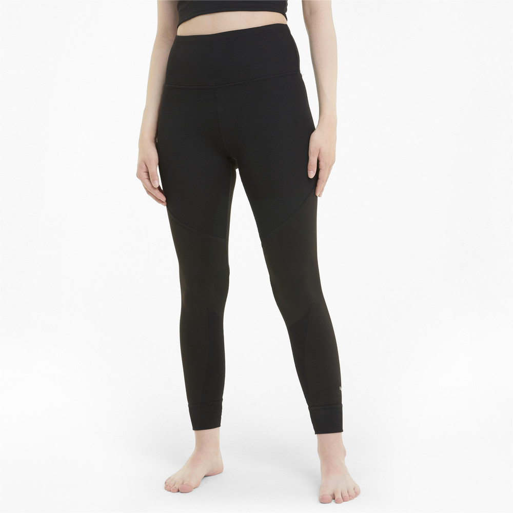 Image PUMA Studio Ribbed High Waist 7/8 Women's Training Leggings #1