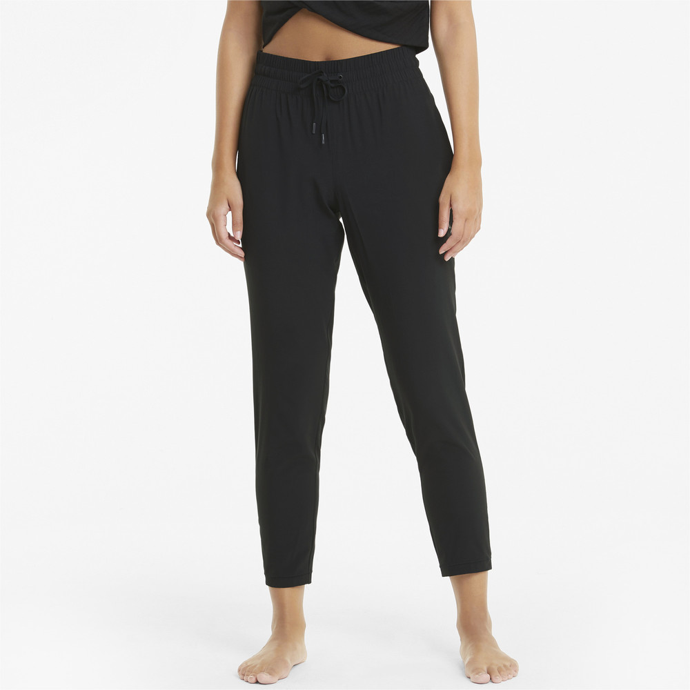 Image PUMA Studio Woven Tapered Women's Training Pants #1