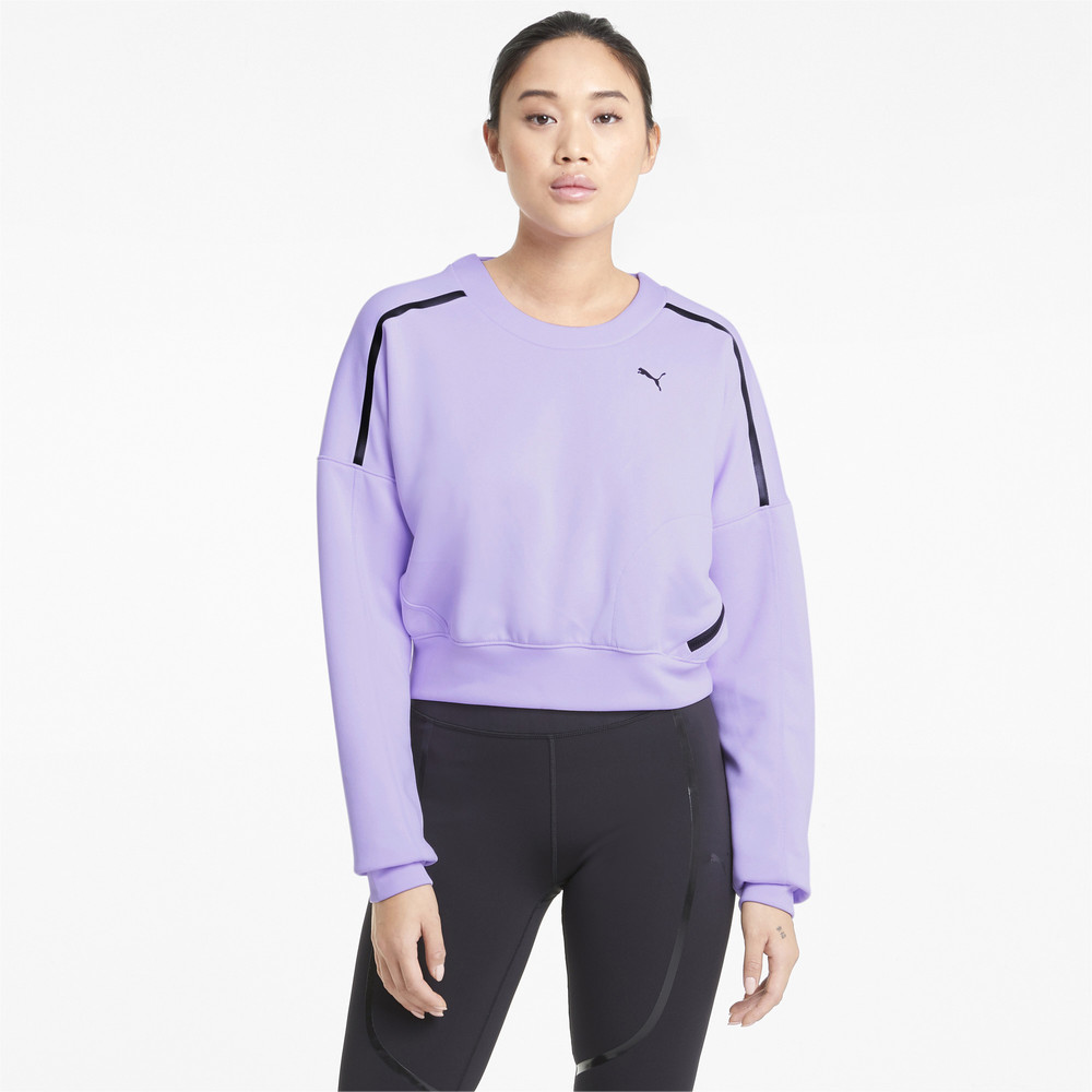 Image PUMA Zip Crew Women's Training Sweatshirt #1