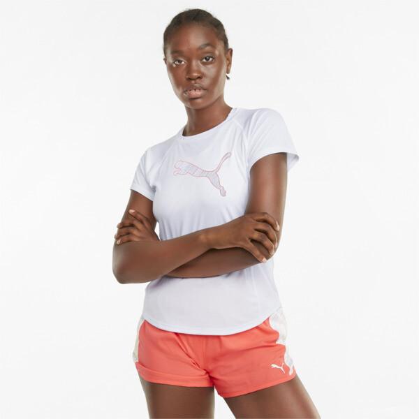 Puma Logo Short Sleeve Women's Running T-Shirt In White, Size Xs