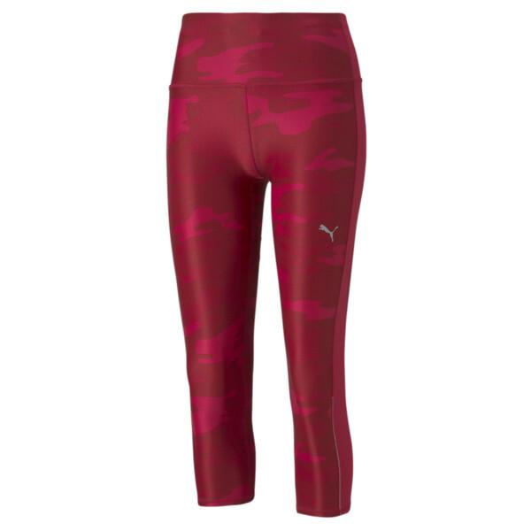 Puma Graphic 3/4 Women's Running Leggings In Persian Red, Size Xs