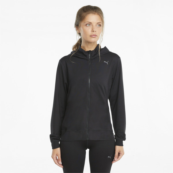 Puma Studio Yogini Women's Full-Zip Training Jacket In Black, Size Xl