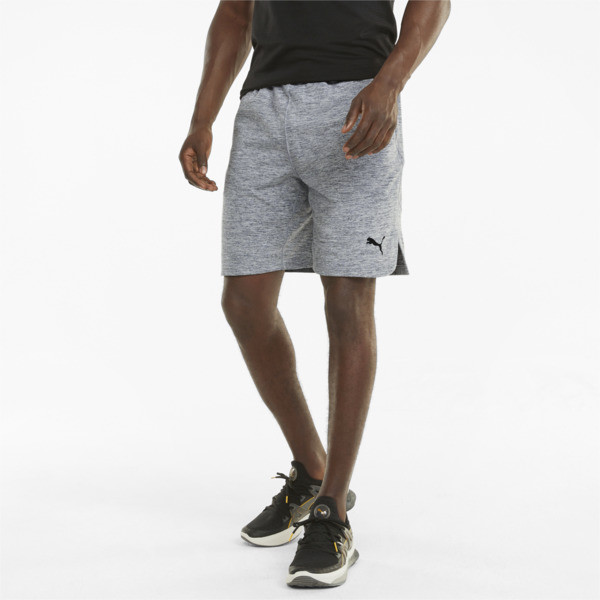 "Puma Cloudspun 8"" Men's Training Shorts In Medium Grey Heather, Size L"