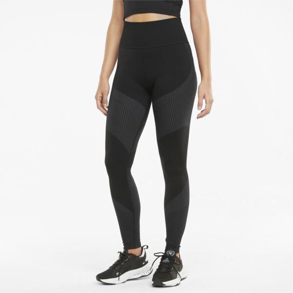 Puma Seamless High Waist 7/8 Women's Training Leggings In Asphalt Grey, Size Xs