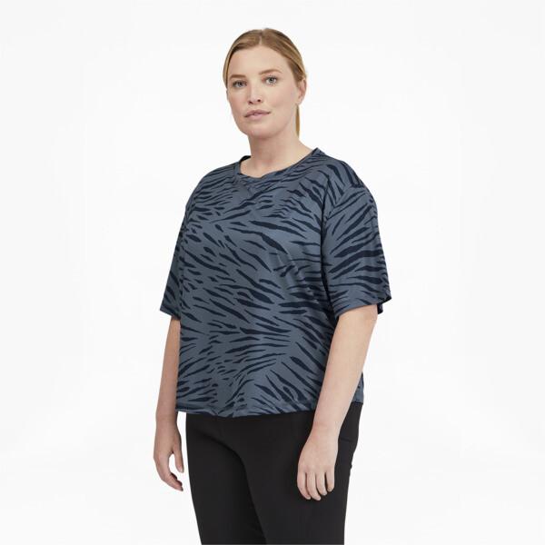 Puma Performance Aop Women's T-Shirt Pl In China Blue, Size 1X
