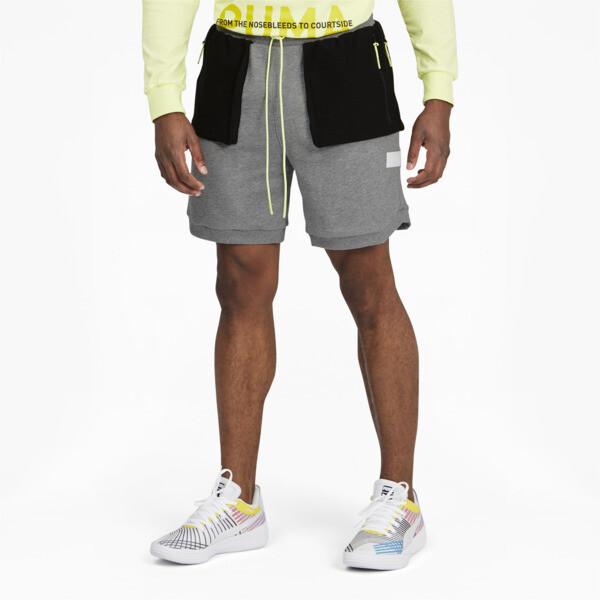 Puma Standby Men's Basketball Shorts In Medium Grey Heather, Size S