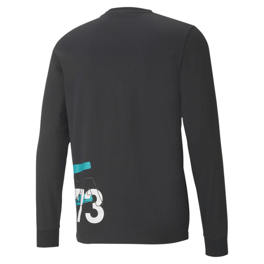 Изображение Puma Футболка Franchise Street Long Sleeve Men's Basketball Tee #2