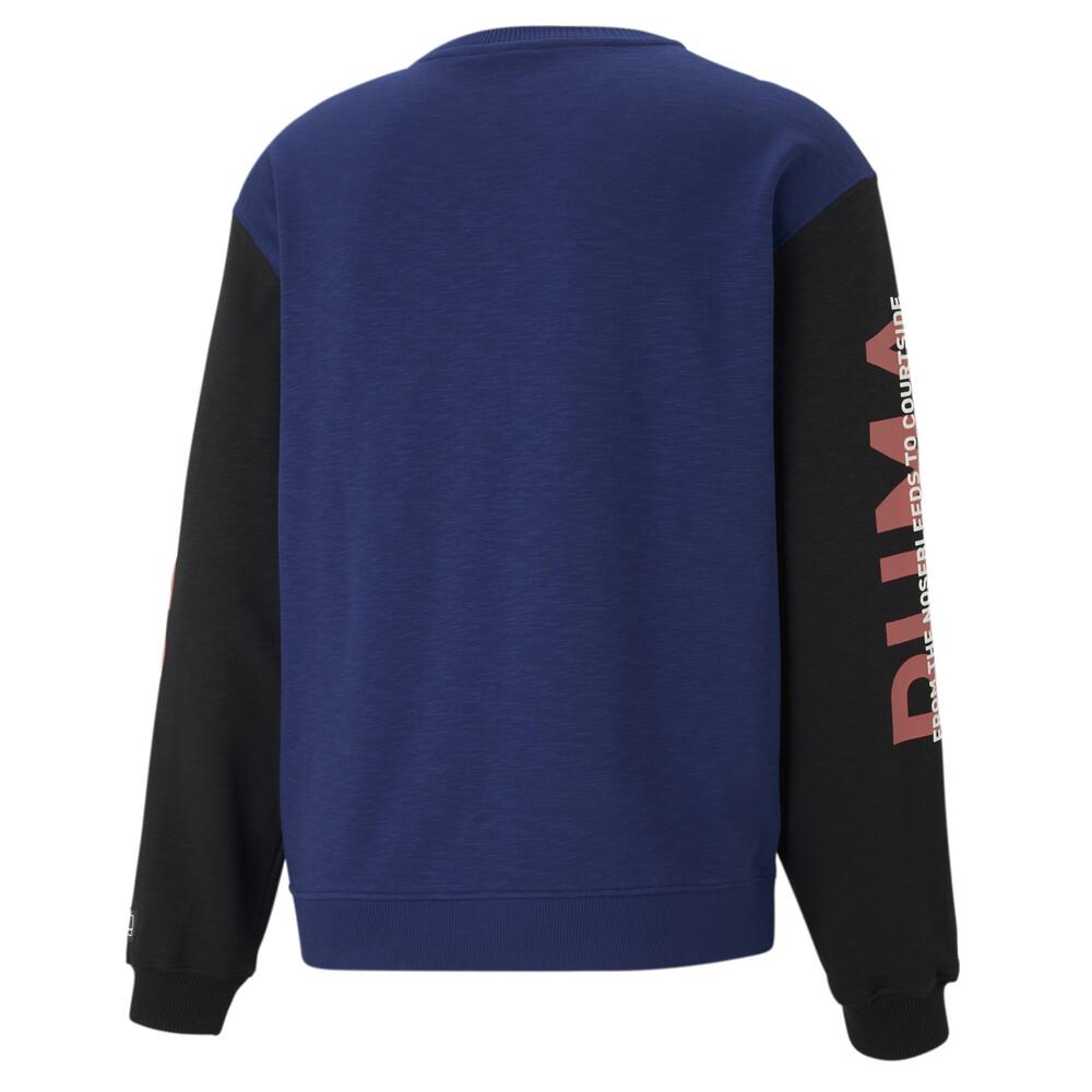 Image PUMA Colour Blocked Crew Neck Men's Basketball Sweatshirt #2