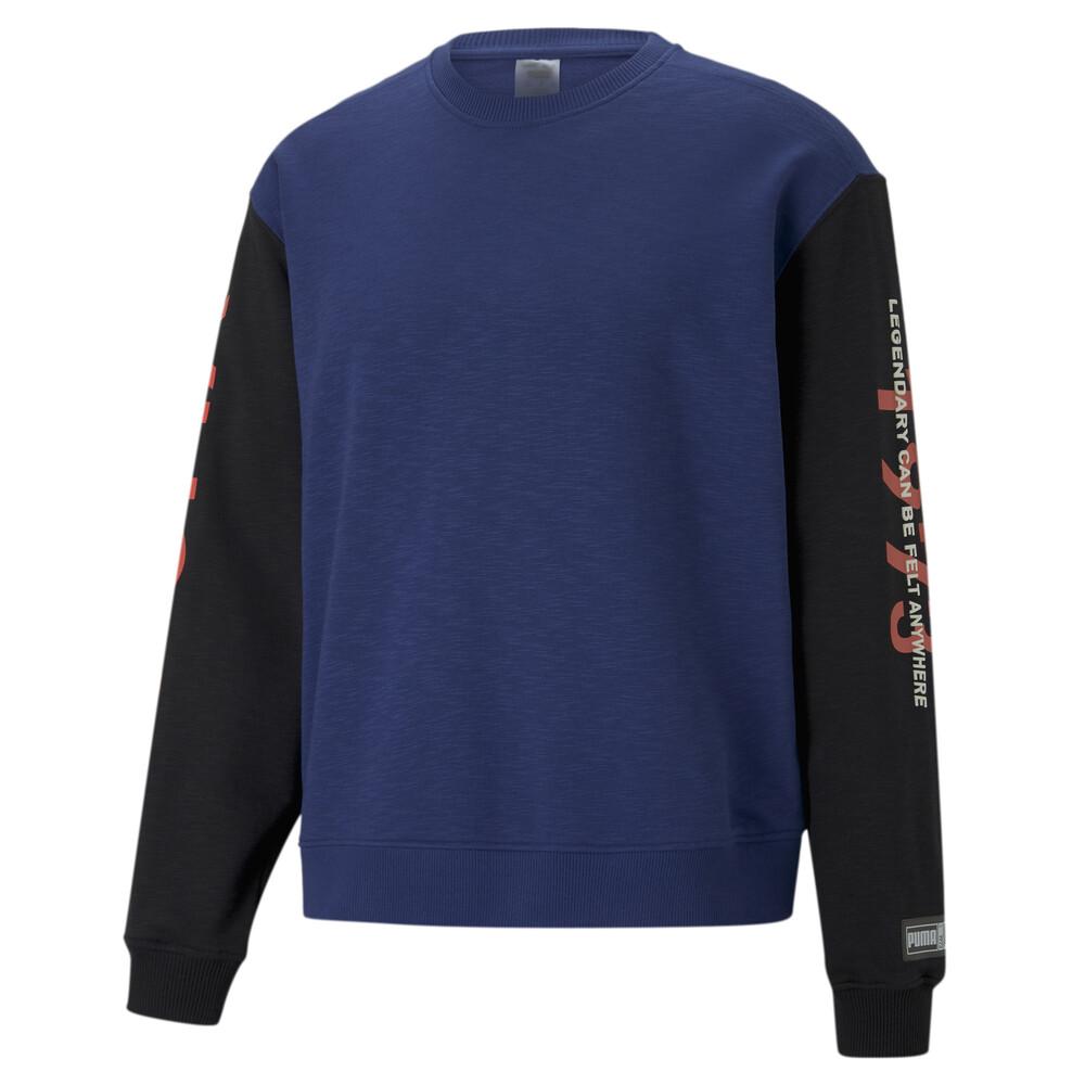 Image PUMA Colour Blocked Crew Neck Men's Basketball Sweatshirt #1