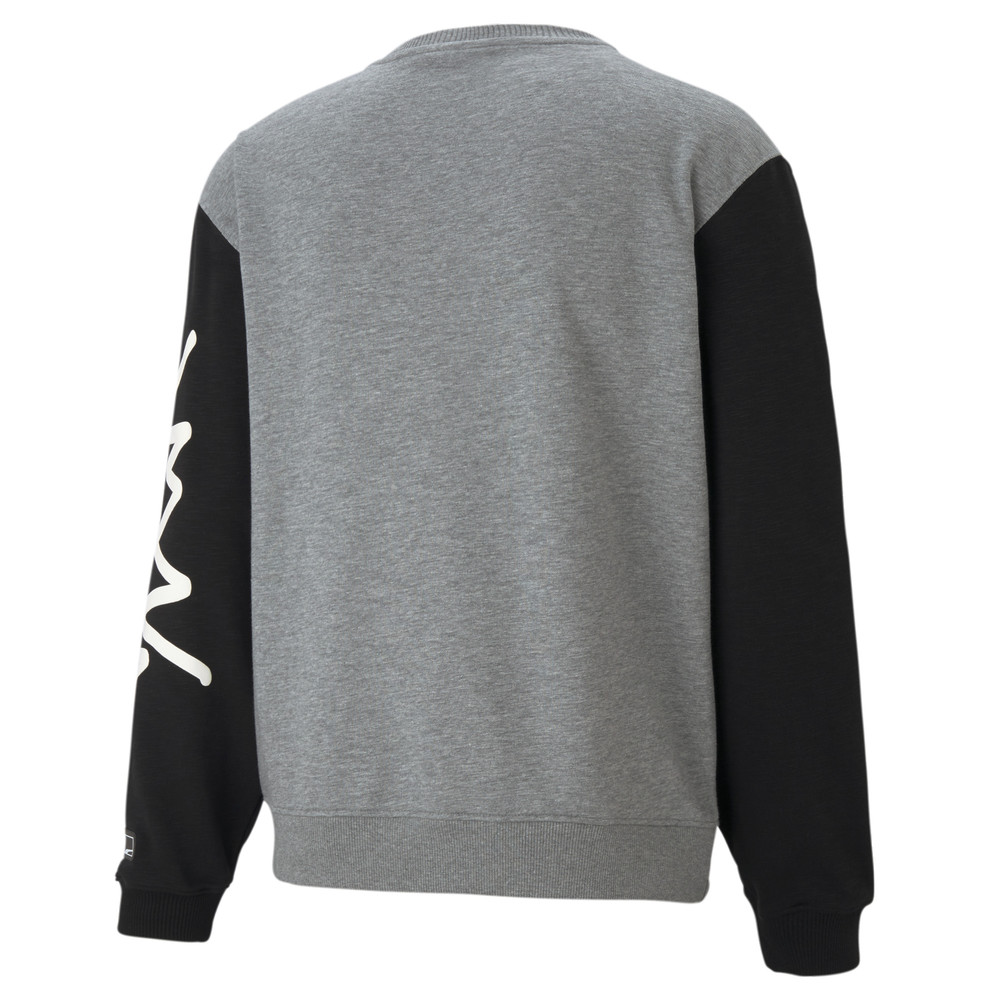 Image PUMA Colour Blocked Crew Neck Men's Basketball Sweatshirt #2
