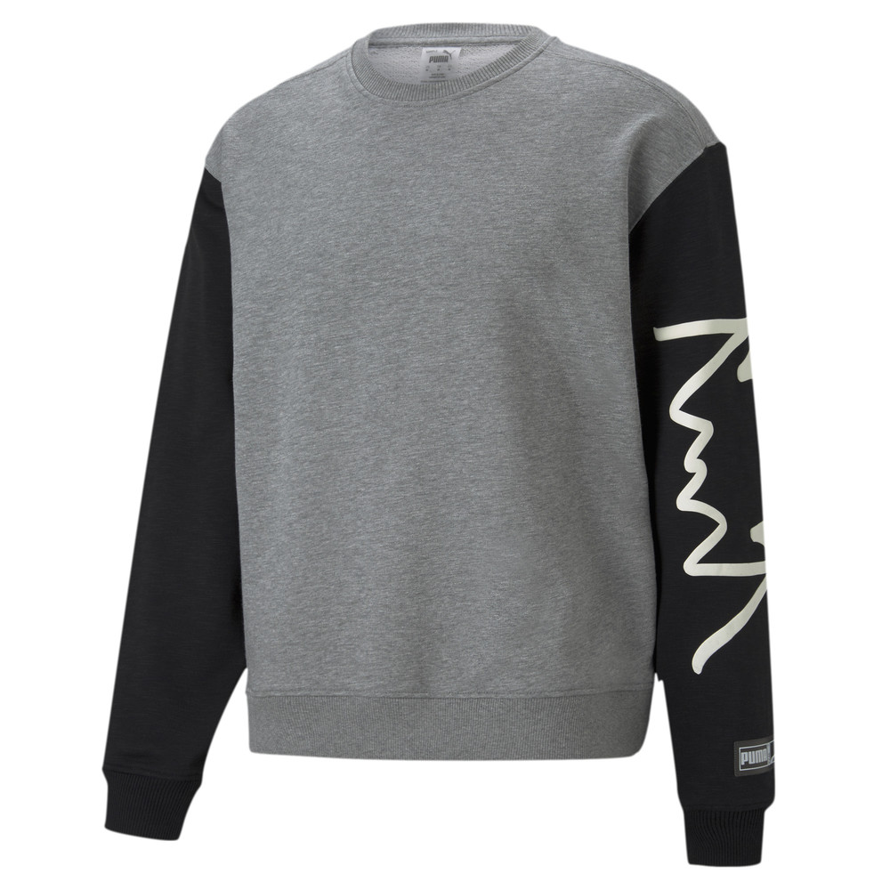 Image PUMA Colour Blocked Crew Neck Men's Basketball Sweatshirt #1