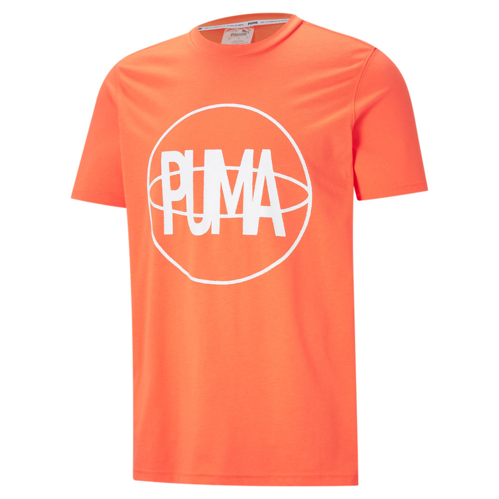 Image PUMA Back P Short Sleeve Men's Basketball Tee #1