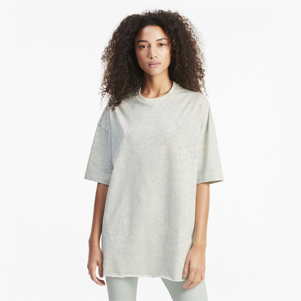 Изображение Puma Футболка All-Over Printed Oversized Women's Tee #1