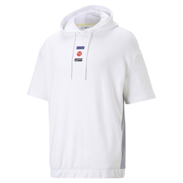 Puma Decor8 Men's Short Sleeve Hoodie In White, Size S