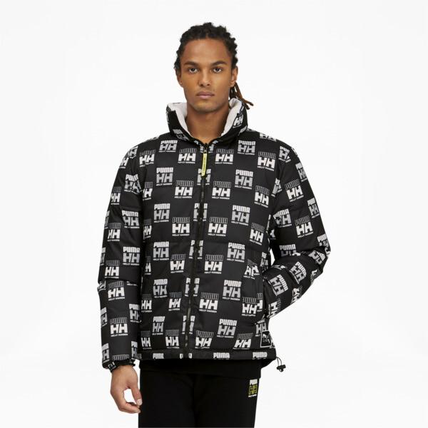 puma x helly hansen men's reversible jacket in black, size s