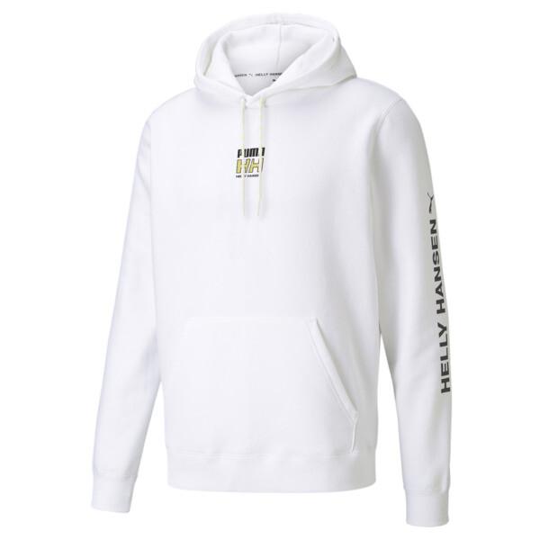 puma x helly hansen men's hoodie in white, size s