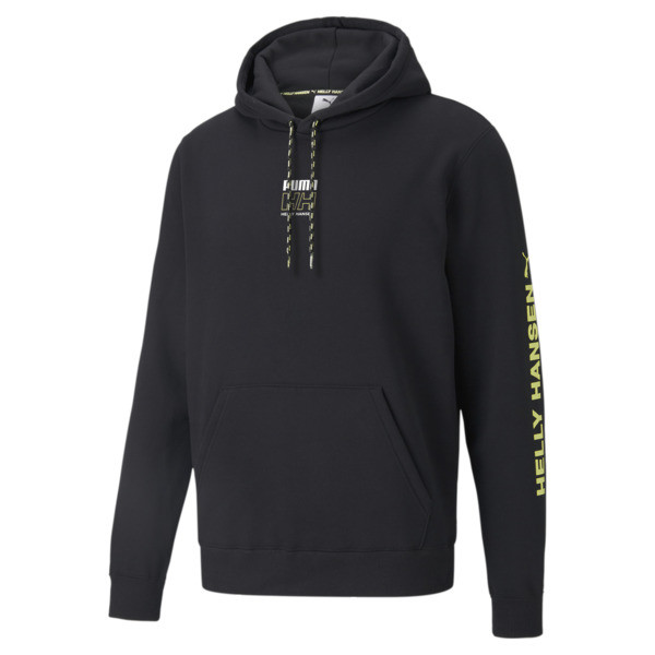 puma x helly hansen men's hoodie in black, size s