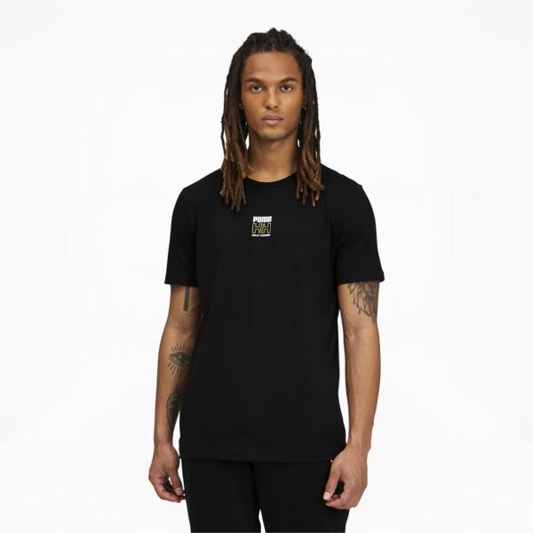 puma x helly hansen men's t-shirt in black, size m