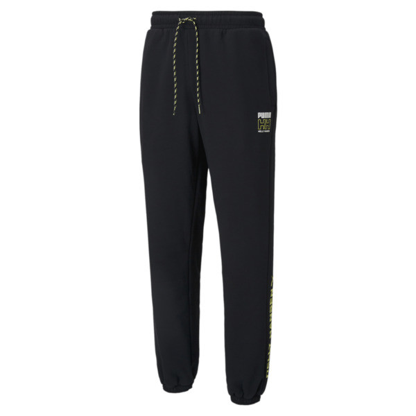 puma x helly hansen men's sweatpants in black, size s