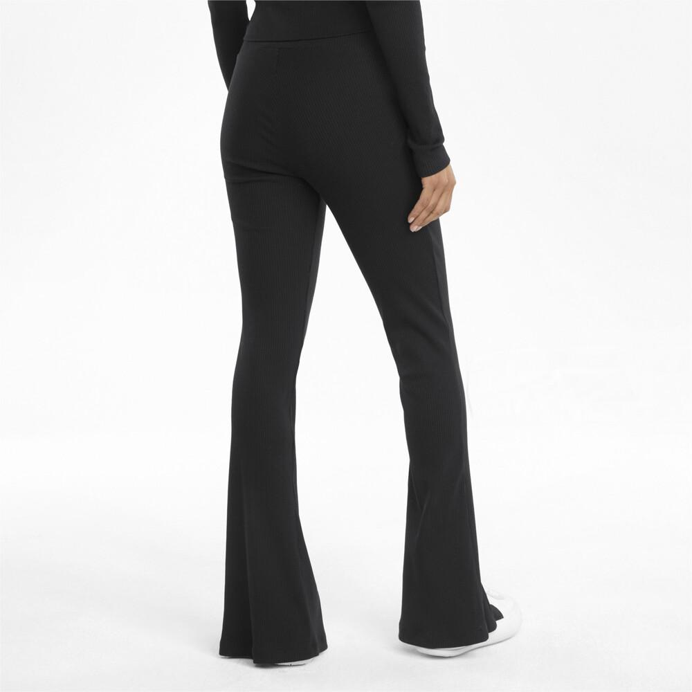 Image PUMA Classics Ribbed Women's Slit Pants #2