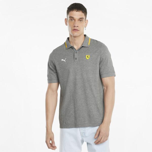 Puma Scuderia Ferrari Race Men's Polo Shirt In Medium Grey Heather, Size S