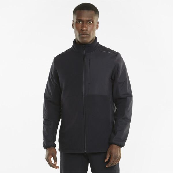 puma porsche design men's polar jacket in jet black, size xs