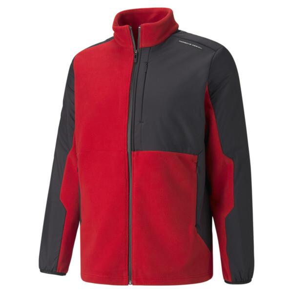 puma porsche design men's polar jacket in urban red, size xs