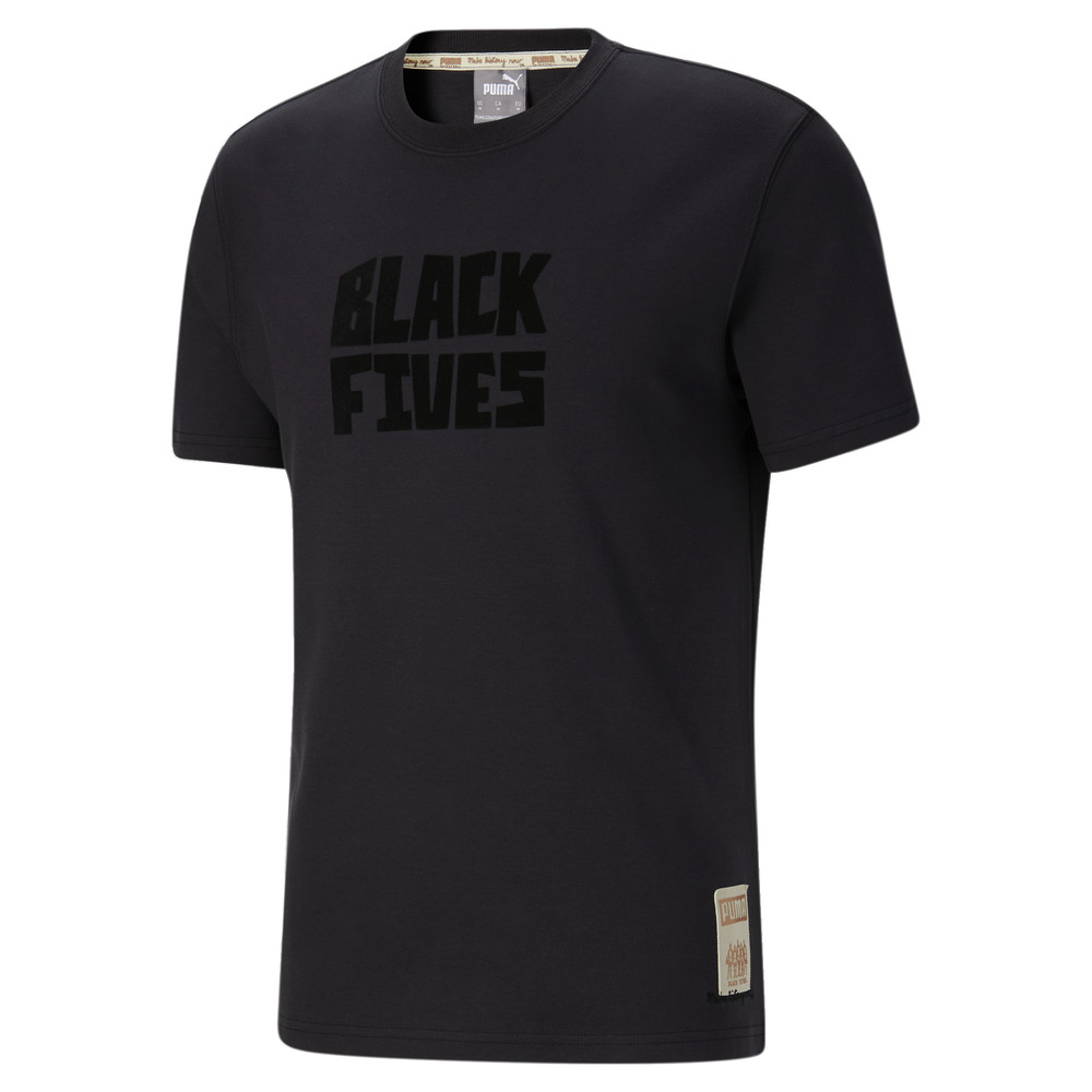 Image PUMA Black Fives Timeline Men's Tee #1