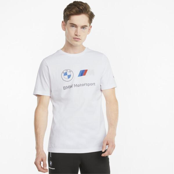 Puma Bmw M Motorsport Essentials Logo Men's T-Shirt In White, Size S