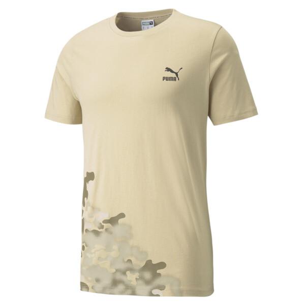 Puma Classics Graphics Men's T-Shirt In Beige, Size S