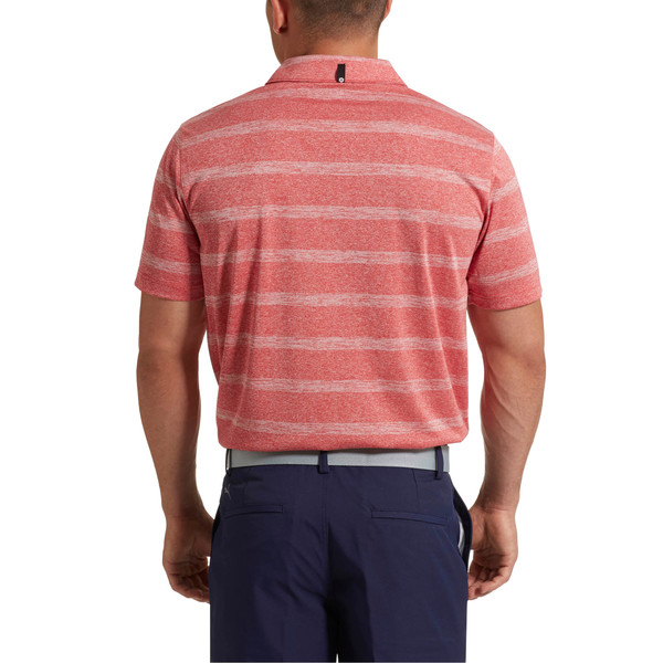 Pounce Stripe Polo Top, High Risk Red, large