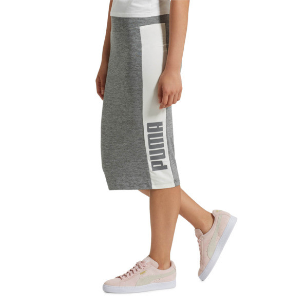 Archive Logo Pencil Skirt, Medium Gray Heather, large