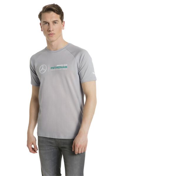 MERCEDES AMG PETRONAS Men's Logo T-Shirt, Mercedes Team Silver, large