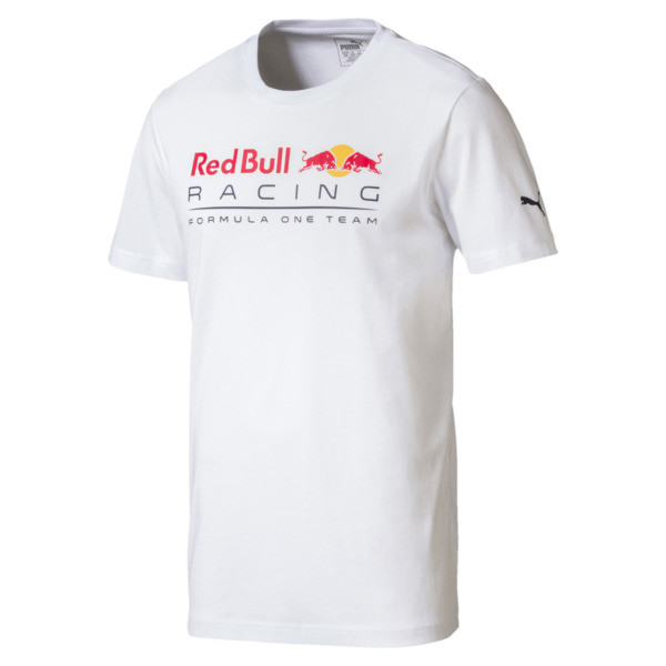Red Bull Racing Men's Logo T-Shirt, Puma White, large