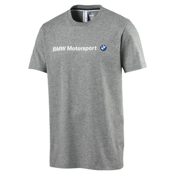 BMW Motorsport Men's Logo T-Shirt, Medium Gray Heather, large