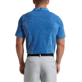 Thumbnail 3 of evoKNIT Seamless Polo Shirt, lapis blue, medium