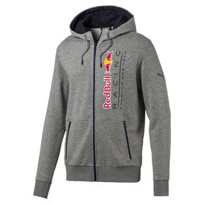 Thumbnail 5 of Red Bull Racing Lifestyle Men's Hooded Sweat Jacket, Medium Gray Heather, medium