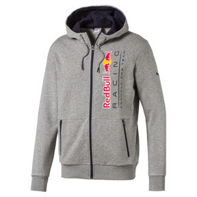 Thumbnail 1 of Red Bull Racing Lifestyle Men's Hooded Sweat Jacket, Medium Gray Heather, medium
