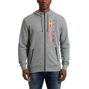 Thumbnail 2 of Red Bull Racing Lifestyle Men's Hooded Sweat Jacket, Medium Gray Heather, medium