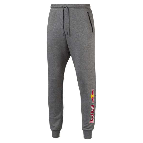 Red Bull Racing Lifestyle Men's Sweatpants, Medium Gray Heather, large