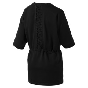 Thumbnail 3 of Evolution Lacing Short Sleeve Sweatshirt, Puma Black, medium