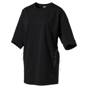 Thumbnail 1 of Evolution Lacing Short Sleeve Sweatshirt, Puma Black, medium