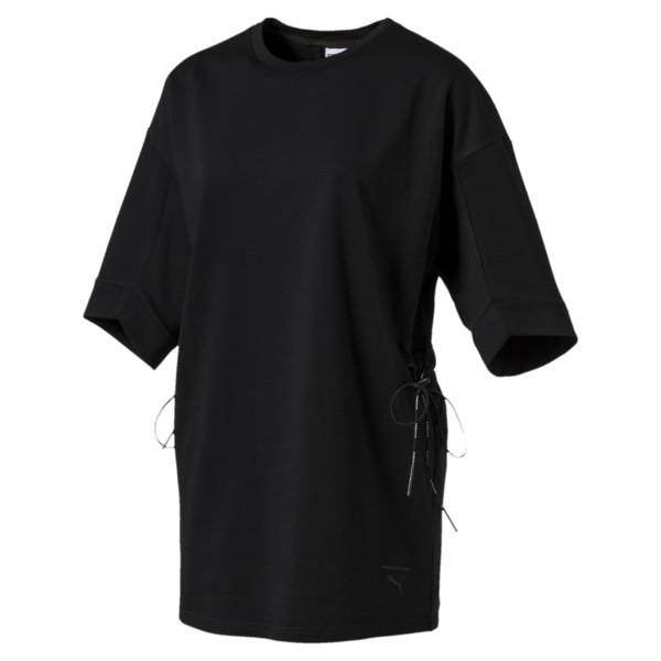 Evolution Lacing Short Sleeve Sweatshirt, Puma Black, large